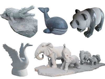 Granite Animal Carvings
