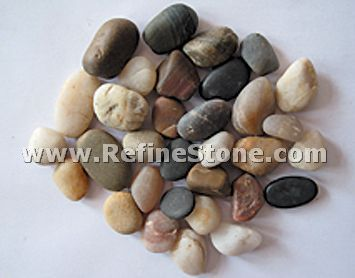 Mixed colors unpolished river pebble