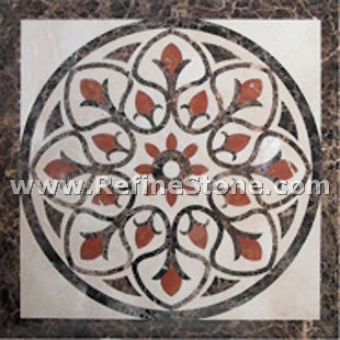 Waterjet inlay patterns or medallion,,C3489