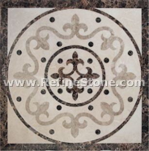 Waterjet inlay patterns or medallion,,C3490