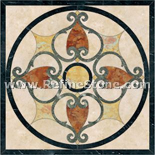Waterjet inlay patterns or medallion,,C3491