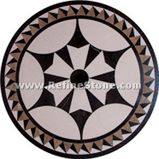 Waterjet inlay patterns or medallion,,C3468