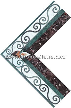 Waterjet inlay patterns or medallion,,C3471