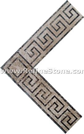 Waterjet inlay patterns or medallion,,C3472