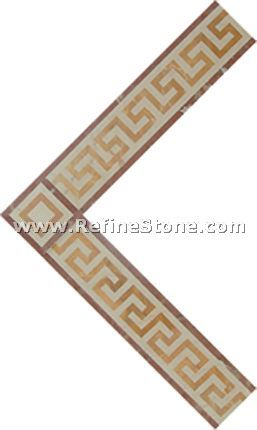 Waterjet inlay patterns or medallion,,C3474