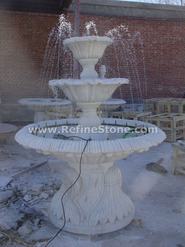China white marble water fountain