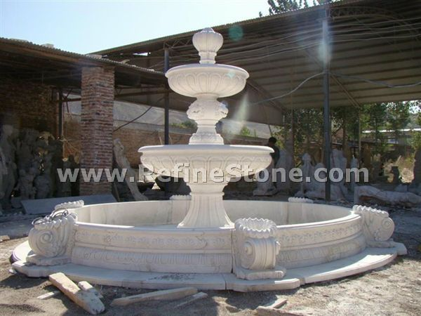 Water fountain,Garden white marble water fountain with lady statue,C4872