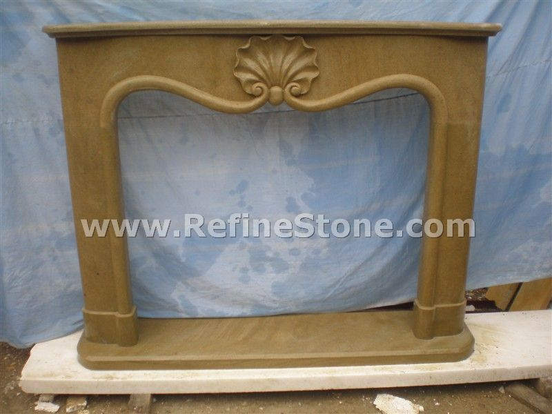 Fireplace polished