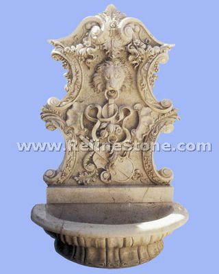 antique lion water fountain