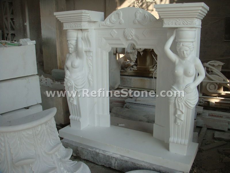 Fireplace beauty carving