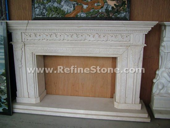 Carved fireplace and fireplace surrounds,Exquisite fireplace,C4635
