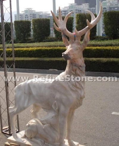 Marble animal carvings,Natural marble animal statues,C4645