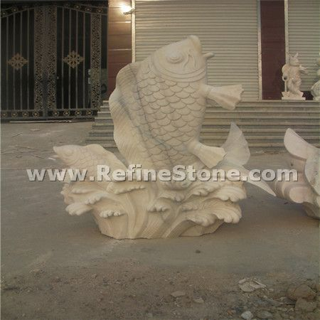 Marble animal carvings,Fish marble carvings,C4647