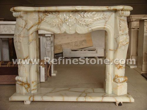 Carved fireplace and fireplace surrounds,onyx fireplace,C4640