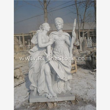 Woman White Marble Statue