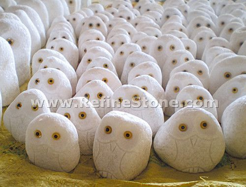 Granite Animal Carvings,Owl granite small carving,C4691