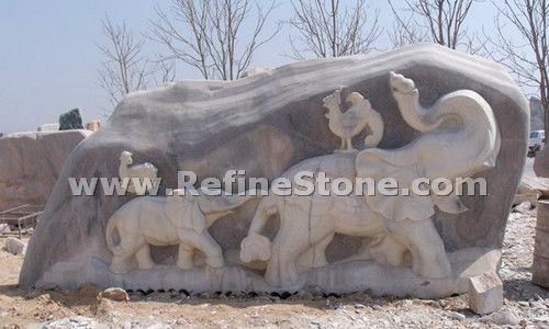 Granite Animal Carvings,Outdoor anmial carving,C4683