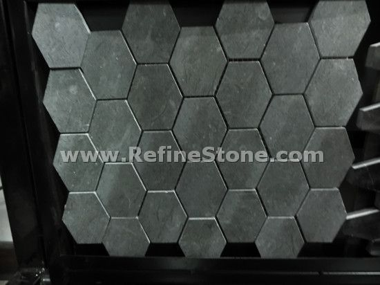 light black stone mosaic