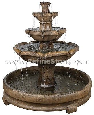 Water fountain,Garden 3 Tier Fountain Traditional Feature,C4908