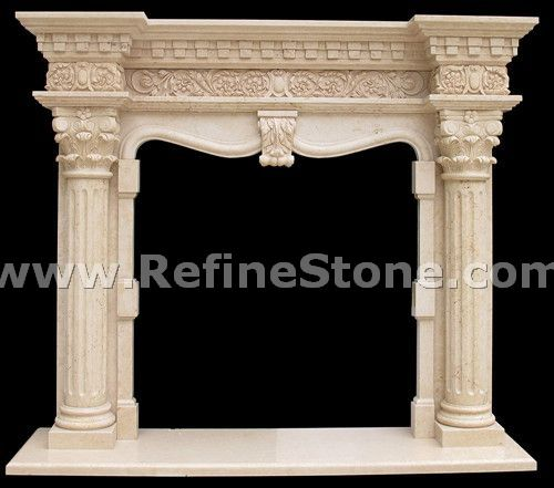 Carved fireplace and fireplace surrounds,Fireplace design , mantel carving stone ,,C4923
