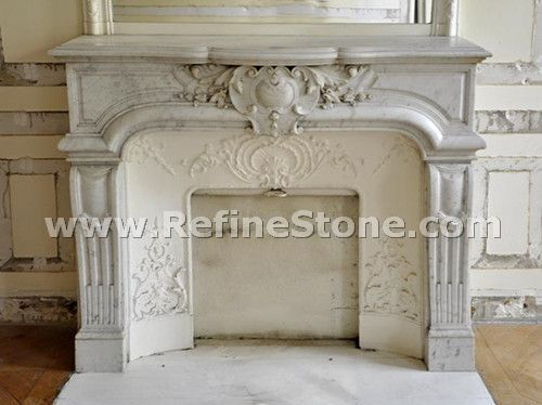 Carved fireplace and fireplace surrounds,Highly carved carrara marble fireplace,C4927