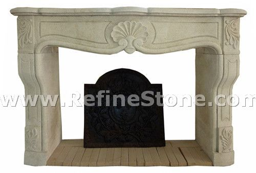 Carved fireplace and fireplace surrounds,White customized warm fireplace mantel,C4932