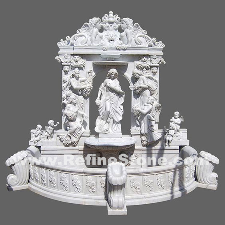 Large Human carving wall fountain
