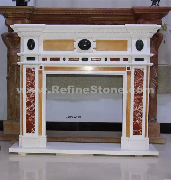 Marble Around Fireplace Classic Column Shape