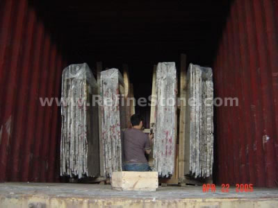 Loading slabs at the factory